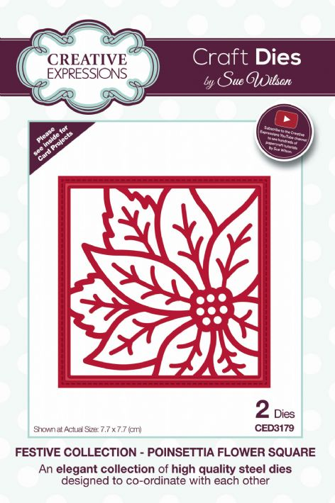 Festive Collection - Poinsettia Flower Square